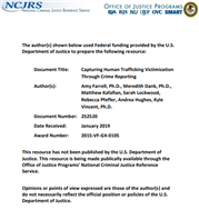 Image for Capturing Human Trafficking Victimization Through Crime Reporting