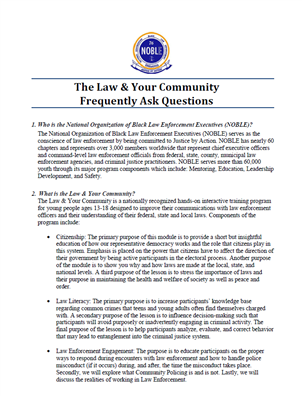 Image for The Law & Your Community:  Frequently Asked Questions