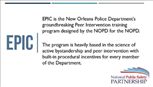 Image for New Orleans Police Department's Ethical Policing is Courageous (EPIC) Peer Intervention Program Webinar