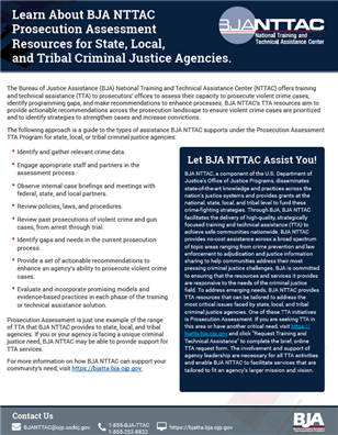 Image for BJA NTTAC Prosecution Assessment Resources