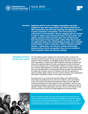 Image for National Network for Safe Communities Issue Brief:  Reconciliation