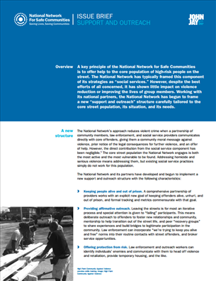 Image for National Network for Safe Communities Issue Brief:  Support and Outreach
