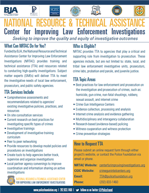 Image for National Resource & Technical Assistance Center for Improving Law Enforcement Investigations