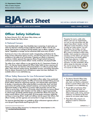 Image for Officer Safety Initiatives  - BJA Fact Sheet