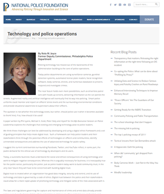 Image for Technology and police operations
