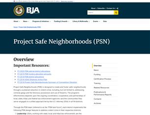 Image for BJA Project Safe Neighborhoods