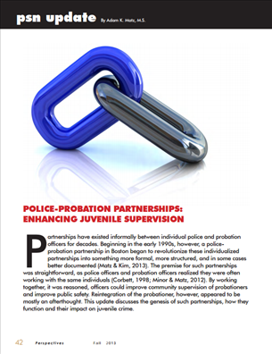 Image for Police-Probation Partnerships: Enhancing Juvenile Supervision
