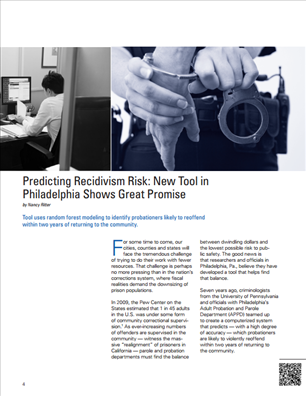 Image for Predicting Recidivism Risk: New Tool in Philadelphia Shows Great Promise