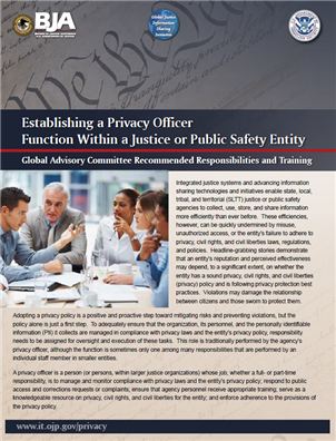 Image for Establishing a Privacy Officer Function Within a Justice or Public Safety Entity:  Recommended Responsibilities and Training