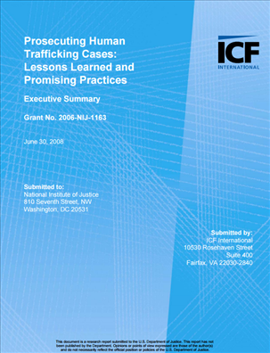 Image for Prosecuting Human Trafficking Cases: Lessons Learned and Promising Practices
