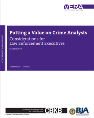 Image for Putting a Value on Crime Analysts: Considerations for Law Enforcement Executives