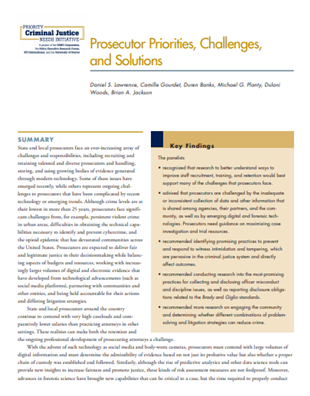 Image for Prosecutor Priorities, Challenges, and Solutions