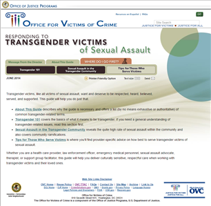 Image for Responding to Transgender Victims of Sexual Assault Guide