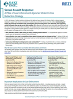 Image for Sexual Assault Response: A Pillar of Law Enforcement Agencies' Violent Crime Reduction Strategy