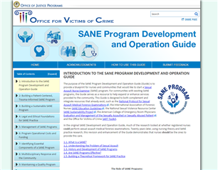 Image for SANE Program Development and Operation Guide