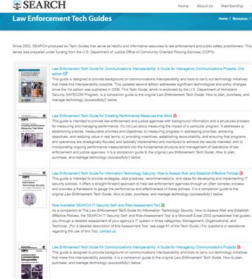 Image for SEARCH: Law Enforcement Tech Guides