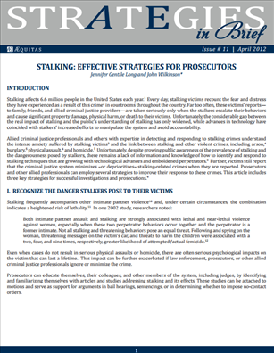 Image for Stalking: Effective Strategies for Prosecutors