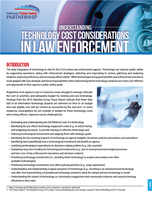 Image for Understanding Technology Cost Considerations in Law Enforcement