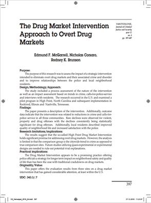Image for The Drug Market Intervention Approach to Overt Drug Markets