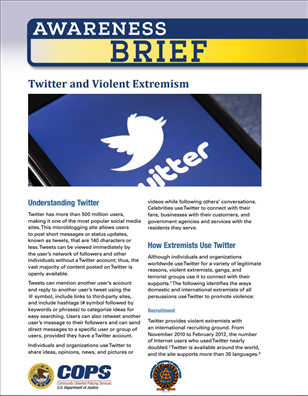 Image for Awareness Brief: Twitter and Violent Extremism