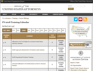 Image for U.S. Attorney Training Courses