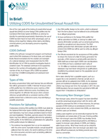Image for Utilizing CODIS for Unsubmitted Sexual Assault Kits