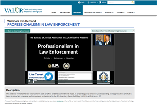 Image for Professionalism In Law Enforcement