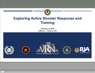 Image for VRN Webinar: Exploring Active Shooter Response and Training