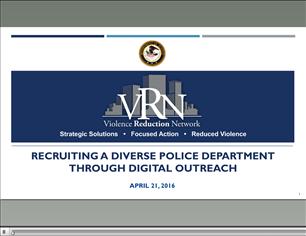 Image for VRN Webinar: Recruiting a Diverse Police Department Through Digital Outreach