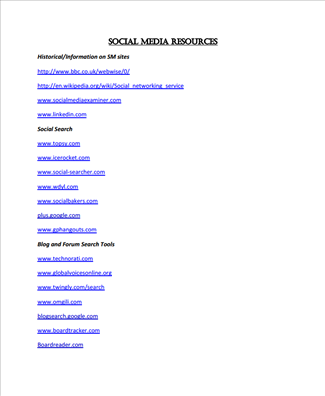 Image for VRN Webinar: Social Media Analysis (resource)