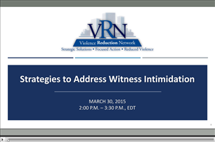 Image for VRN Webinar: Strategies to Address Witness Intimidation