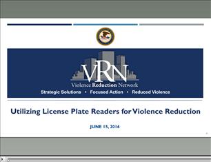 Image for VRN Webinar: Utilizing License Plate Readers for Violence Reduction
