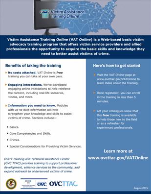 Image for Victim Assistance Training Online