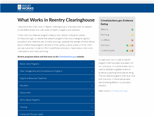Image for What Works in Reentry Clearinghouse
