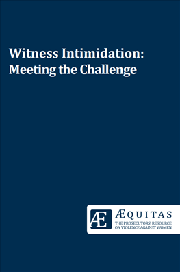 Image for Witness Intimidation: Meeting the Challenge