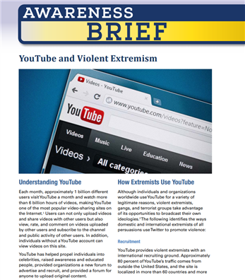 Image for Awareness Brief: YouTube and Violent Extremism